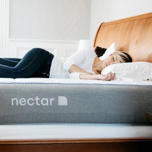 girl sleeping on nectar mattress